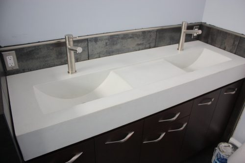Unique Concrete Sinks White Double Eclipse
