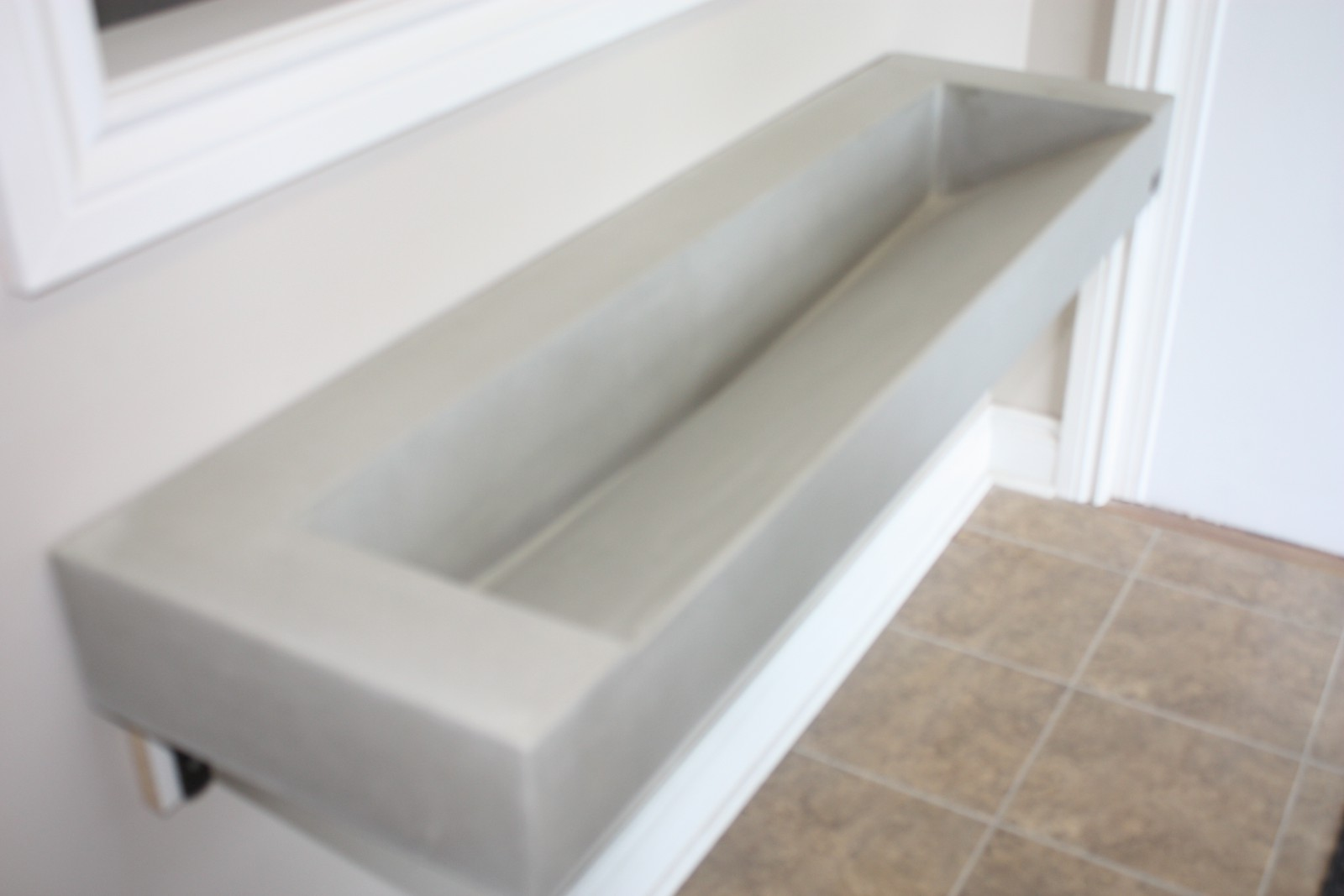 Natural Gray Narrow Ramp Slot Drain Trough