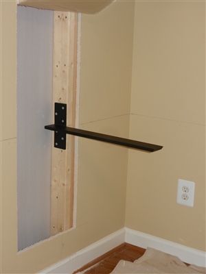 Stud Mounted Countertop Support Brackets for Floating Sinks