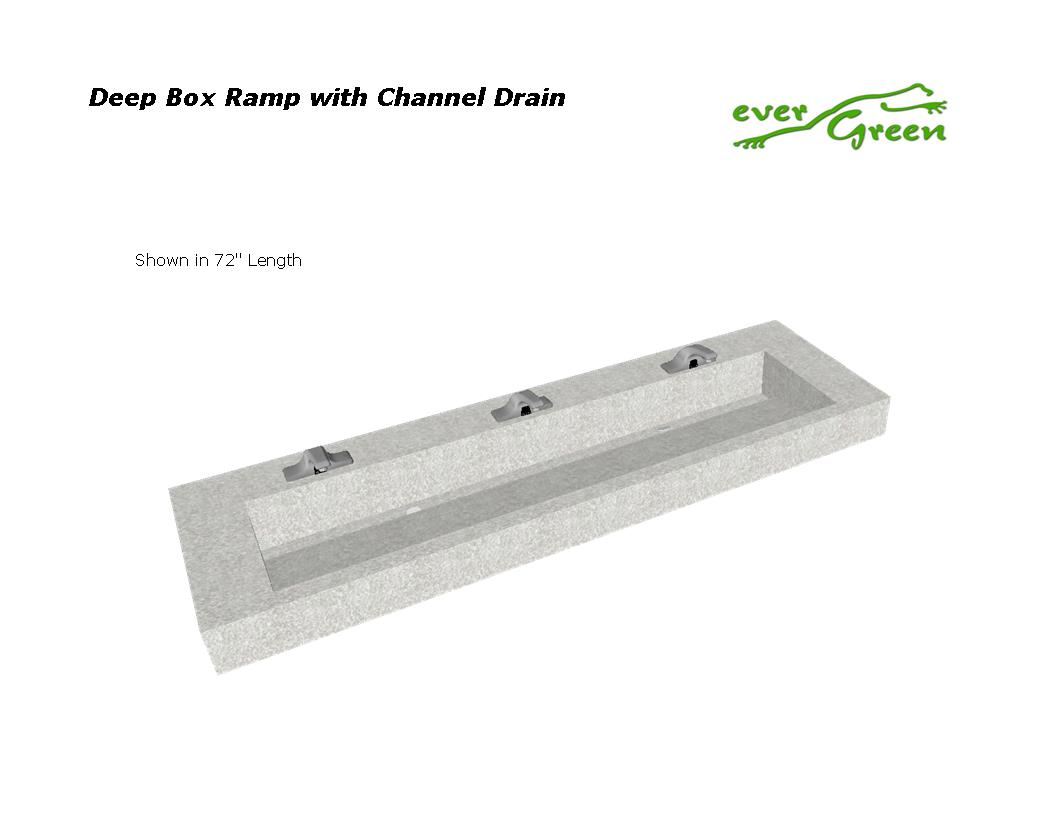 Deep Box Trough with Channel Drain