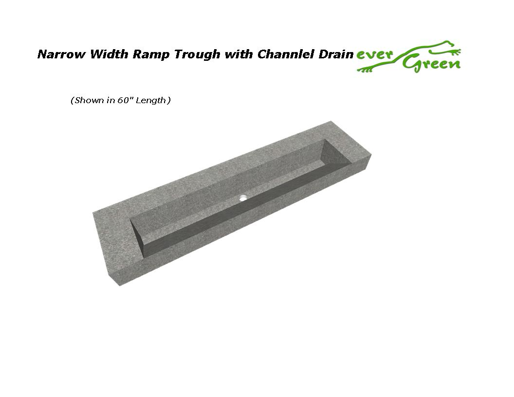 Narrow Width Box Trough with Channel Drain