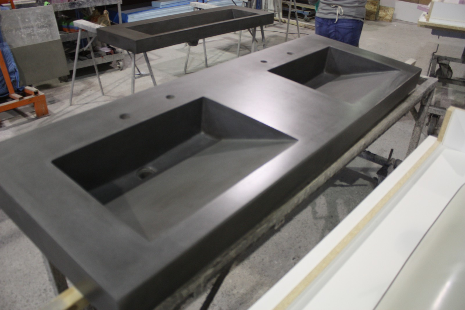 Charcoal Double Ramp Vanity Top